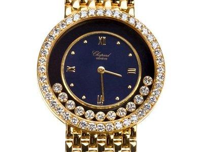 Chopard 蕭邦18K金男用原鑲快樂鑽錶