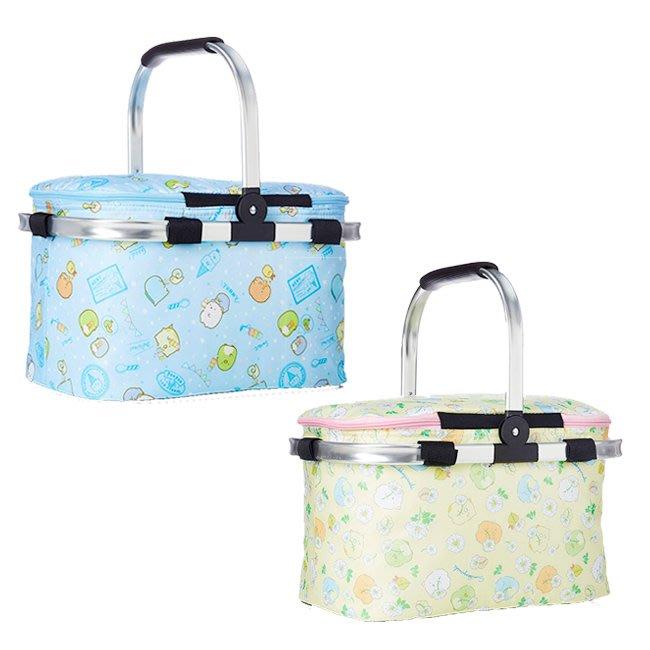 保溫籃 SAN-X 角落生物 滿版 冰淇淋 花朵 保冷 手提 籃子 正版日本進口授權