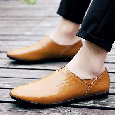 【時尚先生男裝】大碼男鞋2020春夏季休閑男鞋子豆豆鞋新款真皮休閑皮鞋男士潮鞋 2005240340