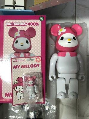 My melody Bearbrick400%+100%400%已開盒100%全新