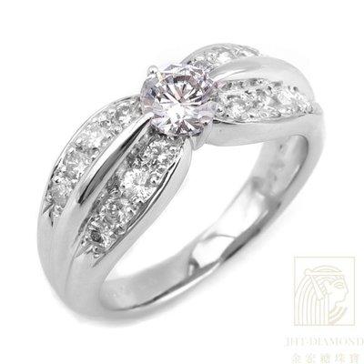 【JHT 金宏總珠寶/GIA鑽石專賣】0.516ct天然鑽石戒指/材質:PT900(2593)
