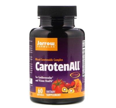 【品質生活】美國Jarrow Formulas, CarotenALL混合型胡蘿蔔素60粒