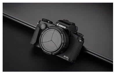 全新JJC自動鏡頭蓋佳能相機PowerShot G1X Mark III鏡頭保護蓋G1X3 自動開合支持濾鏡
