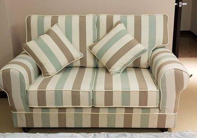 鄉村風全拆式雙人沙發