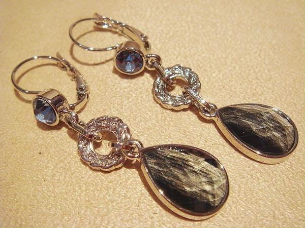 全新美國帶回,lia sophia 閃亮寶石造型穿式耳環,低價起標無底價!本商品免運費!