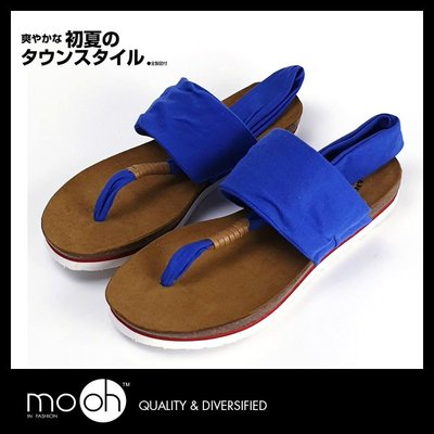 夾腳涼鞋 軟木拖鞋 舒適純棉布厚底瑜珈拖鞋 mo.oh (歐美鞋款)