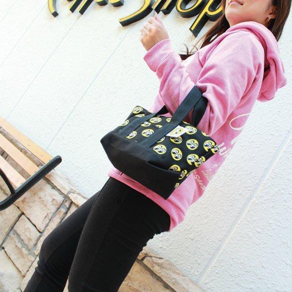 (I LOVE樂多)MQQNEYES MINI Tote Bag 滿版經典logo(小)手拿包 手提袋置物袋包包
