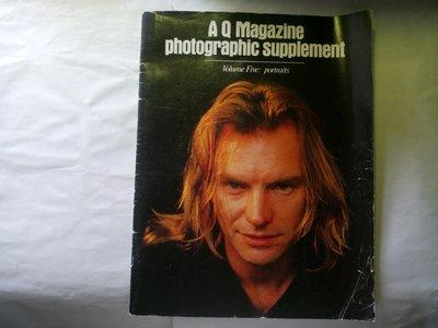 Q雜誌 藝人相片集錦 都是精美相片 有點舊 有白色斑駁圖2 約翰藍儂 瑪丹娜 史汀 邦喬飛 柯恩 INXS Cults