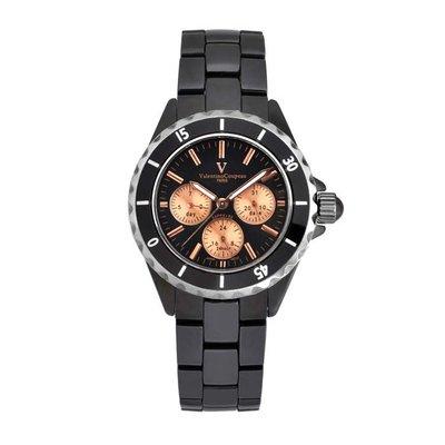 7B 61263-6 邁動三眼陶瓷手錶日本原裝機芯范倫鐵諾古柏 Valentino Coupeau