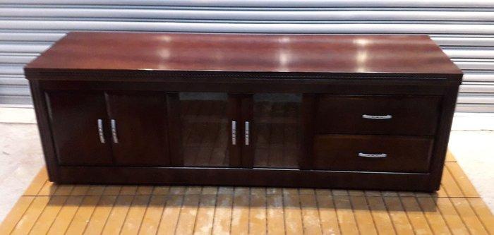樂居二手家具 台中西屯二手傢俱買賣推薦 A1225DJJC 胡桃六尺電視櫃 TV矮櫃*二手櫥櫃 鞋櫃 置物櫃 收納櫃