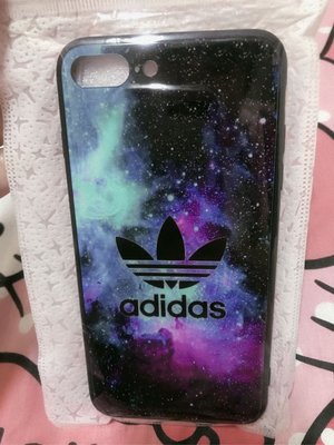 adidas 愛迪達玻璃面星空版iPhone 7plus手機殼