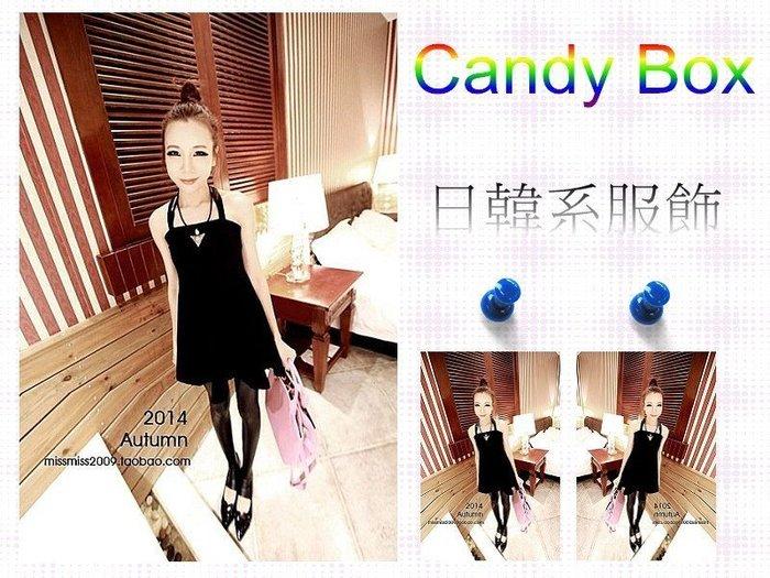 ☆Candy Box☆2014秋裝新款韓版連衣裙 黑 Y2921403