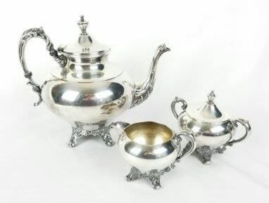 293 大型高級英國鍍銀壺組 Sheridan Silver on Copper Tea/Coffee Pot set