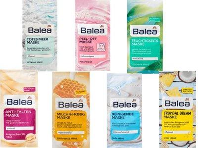 德國 芭樂雅 BALEA 面膜系列共7款可選任選20片(每片有兩小包,可使用兩次,一包 16ml)