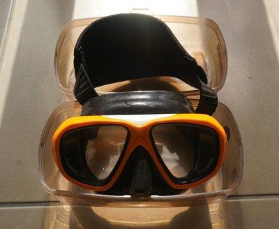 Cressi Focus Mask 潛水鏡 可換近視矯正片 橘黃色   便宜出清~