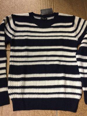 [變身館日本服飾]~Bernings Sho~針織衫~毛衣~條紋~日本購入~全新現品~出清價~M