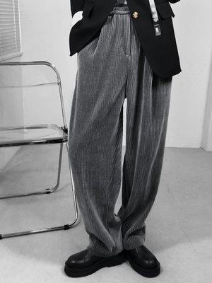 歐韓貨龍叨叨美式21秋冬直筒燈芯絨闊腿褲男潮流潮牌寬松百搭男士休閒褲