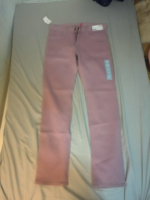 Uniqlo  修身 多色彈性 牛仔 休閒褲 小腳褲 淡紫色 31腰