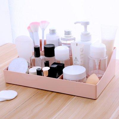 【創意家居 便利生活】化妝品收納盒口紅化妝刷護膚品辦公桌梳妝臺化妝臺簡約桌面化妝盒