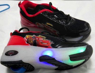 BBCWP-ROLLER SHOE-新款汽車暴走鞋-有轆波鞋 隱形按鈕 秋冬保暖 滾軸溜冰鞋 - 配閃光燈 --包送