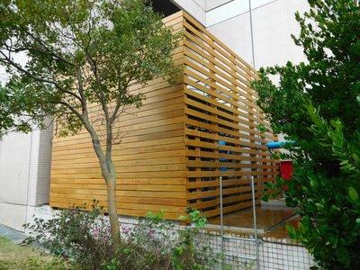 廠房 南方松 圍牆  圍籬 格柵 牆板 木作美化工程