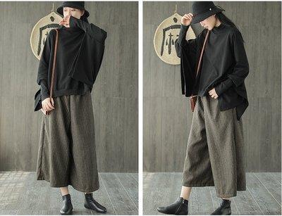 (老銀屋)秋冬設計款蝙蝠袖個性造型棉質高領棉T