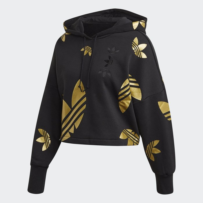 【A'SPORT】Adidas ADICOLOR  FS7224 女短版連帽上衣 帽T/短版上衣/正版公司貨