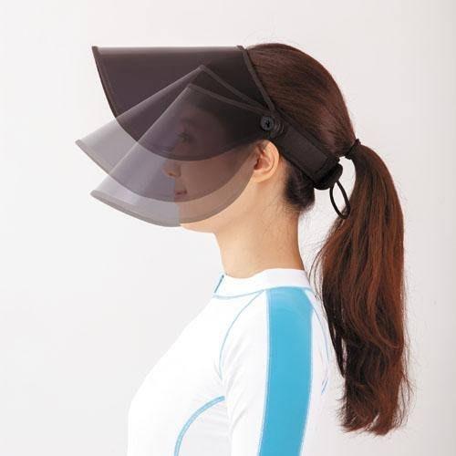 日本進口~抗UV 可收納 可動式遮陽板 大帽緣 空頂帽