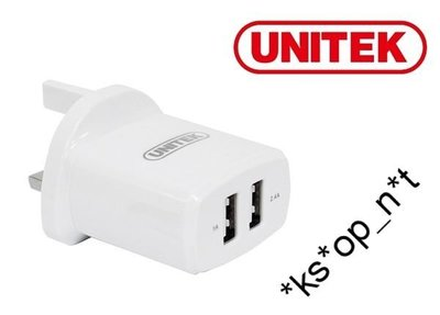 {MPower} Unitek Y-P547B 2 Port USB Smart Charger 5V 1A + 2.4A ( 3.4A ) 火牛 BC1.2 充電器 - 原裝行貨