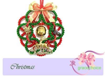 風姿綽約--聖誕圈掛飾(F023)~中國結編織~ 贈送外國朋友的好禮