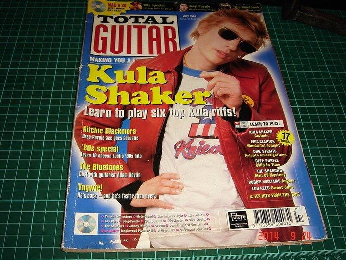 明星雜誌~《TOTAL GUITAR》Kula Shaker JULY 1998年 【CS超聖文化讚】