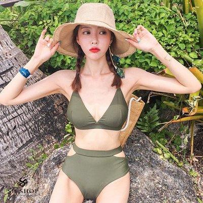 [599免運] 比基尼【魅惑森林歐美三角杯比基尼兩件組】爆乳 性感 泳裝 泳衣 2b182