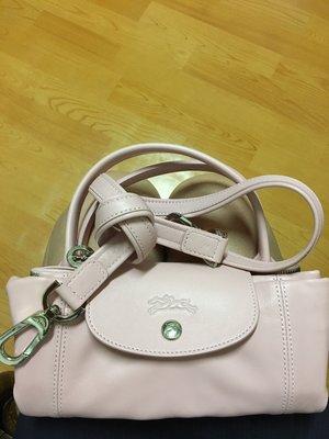 《限時大降價》Longchamp 小羊皮 s號 氣質淡粉色 yahoo購物中心購入 近全新
