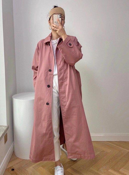 海外斷貨王 Max weekend 款海報款煙粉色長款petra風衣 外套 歐美