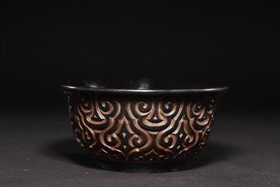3/2結標  重量級 俱利黑漆果子缽 0200722 ─和室 酒器 日式餐具 擺飾 茶室 果子缽 碗盤
