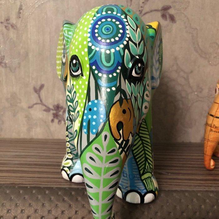 elephant parade叢林象綠色(30cm)