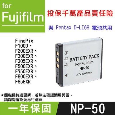 特價款@趴兔@Fujifilm NP-50 副廠電池 FNP50 X20 XF1 與Pentax D-Li68共用