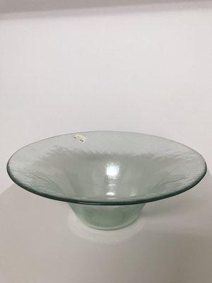 玻璃插花器/插花器皿/藝術花盆/沙拉/水果/糖果盤/家用/商用/擺飾(淺綠)