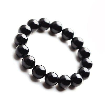 【月壺】水晶碎石天然黑碧璽手鏈女士水晶飾品男士手串生日禮物單圈