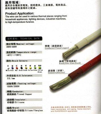 耐熱電線 180度 0.75平方 10米