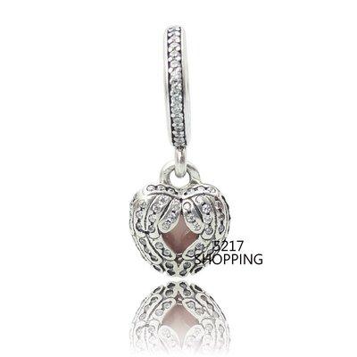 原價1040元3折312元 銀飾【天使護心垂墜】charms 925純銀 墜飾 珍珠 水晶 串珠A8001151102