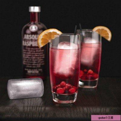 ⊱pokeの王國⊰酒杯高腳杯洋酒杯 【2只禮盒】硅膠圓柱形冰塊模具 冰格 冰盒Highball Ice Molds
