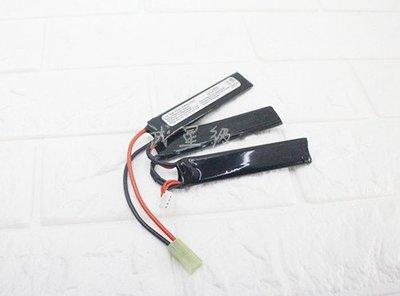 台南 武星級 11.1V 鋰電池 三片式 ( 鋰鐵充電電池EBB AEG 電動槍AR步槍M4後托BB槍BB彈玩具槍T91