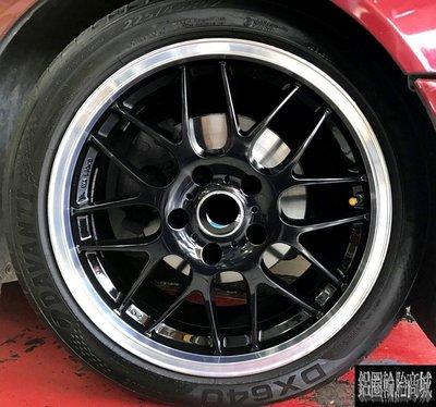 【CS-372】全新鋁圈 類B牌 RGR 17吋 5孔120 5孔112 5孔114 亮黑車邊 BMW E39 實裝圖