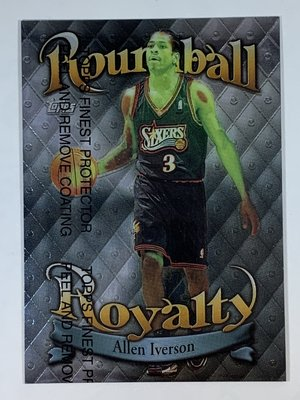 1998-99 Topps RoundBall Royalty #R4 Allen Iverson Sixers 綠化