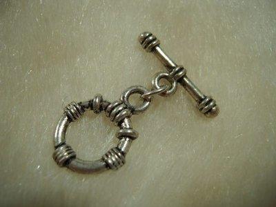 ※布箱子※ 串珠材料手作配件~古銀圓型扣頭(B551)~22mm