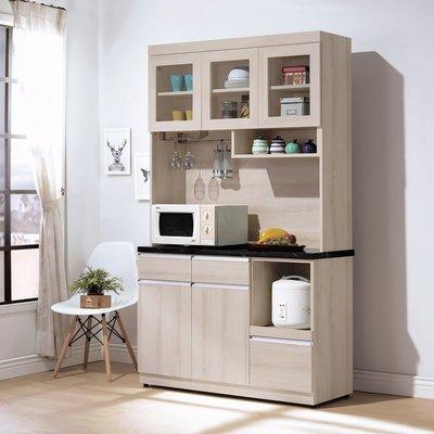 【HB376-06】艾達石面4尺餐櫃(黑石)