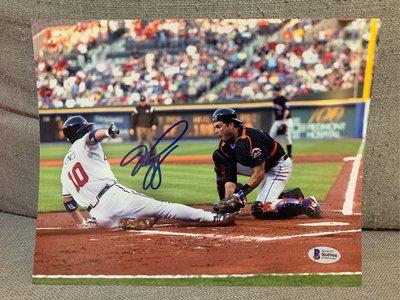 大聯盟 MLB 名人堂 Mike piazza 皮耶薩 最強補手 大都會 8x10 親筆簽名照 BAS 認証mike trout