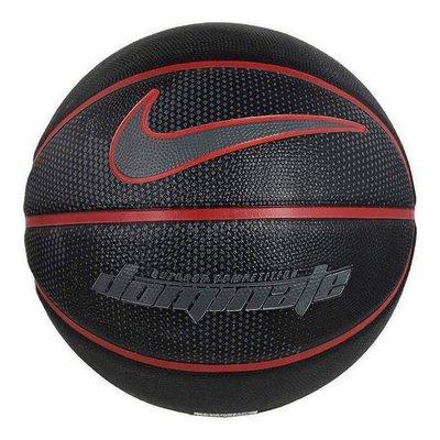百狗體育 NIKE Dominate 籃球 街頭籃球 OUTDOOR 7號球 黑紅