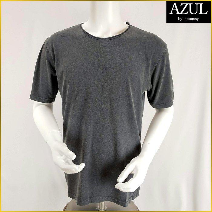 AZUL BY MOUSSY/男 L号/新品/天竺/排汗衫/復古風T恤/鉄灰色/圓領/短袖T恤/175cm/O232A